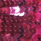Sequin Trim 10mm Iron On Hot Pink Metallic. Made in USA