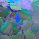 30mm Round Sequin Paillette ~ Aqua Blue Metallic Iris Rainbow ~ Made in USA