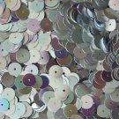 Silver SEQUINS Loose 8mm flat  PAILLETTES ~ Silver Rainbow Iris METALLIC ~ USA