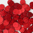 10mm Flat SEQUIN PAILLETTES ~ RED Laser MULTI  HOLOGRAM ~ Round ~ Made in USA.