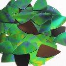 Green Jungle Rainbow Black Sequin Fishscale Fin 1.5 inch Couture Paillettes