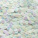 SEQUIN 8mm Flat  PAILLETTES ~ Opaque Pale Light BLUE Rainbow Iris ~ Made in USA
