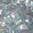 5mm Flat Sequin ~ Light Blue Crystal Iris Rainbow ~ Loose Paillette Made in USA