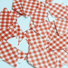 "Long Diamond Sequin 1.75"" Red White Gingham Plaid Checker Pattern Opaque"