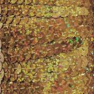 """Gold Hologram Sparkle Sequin Trim 6mm 1/4"""" wide stitched strung by the yard 15'"""