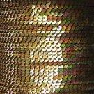 Sequin Stitched Trim 4mm ~ Gold Iris Rainbow Iridescent Metallic ~ Made in USA
