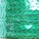 Sequin Trim 10mm Iron On Fresh Green Transparent See-Thru. Made in USA