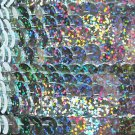 Sequin Trim 10mm Iron On Silver Hologram Glitter Sparkle Metallic. Made in USA