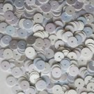 6mm Flat SEQUIN PAILLETTES ~ AURORA SKY  Blue-WHITE Iridescent  ~ Made in USA