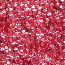 8mm Cup Sequins Facet Paillette ~ Ruby Rose Crystal Iris Rainbow ~ Made in USA