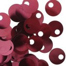 Large Hole SEQUIN PAILLETTE ~ Burgundy Wine Red Metallic~20mm round~ Made in USA