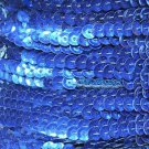 Royal Blue Metallic 5mm cup Sequin Trim Flat Stitched Strung by the yard 15'