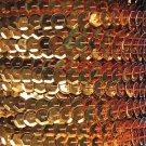 Sequin Trim ~ Orange Metallic ~ 8mm Cup Facet strung by the yard. Made in USA.