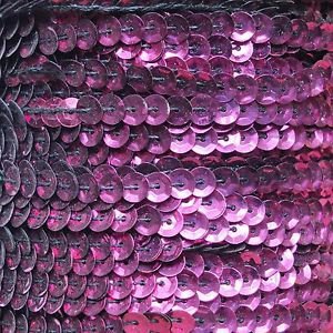 Burgundy Red Wine 5mm cup Sequin Trim, Flat Stitched Strung by the yard 15'