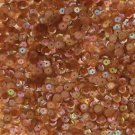 Cup Sequin 6mm Loose Topaz Dark Amber Semi Frost Iridescent Rainbow Made in USA
