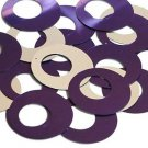 Purple Silver Metallic Sequin Circle Loop Ring 1.5 inch Large Couture Paillettes