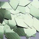 "Long Diamond Sequin 1.75"" Lime Green Silver Chevron Zig Zag Pattern Metallic"