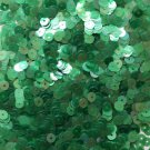 5mm Flat SEQUIN PAILLETTES ~ Soft EMERALD GREEN Rainbow Iris Crystal ~ Made USA