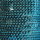 Aqua Blue Metallic 5mm cup Sequin Trim, Flat Stitched Strung by the yard 15'