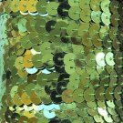 """Lime Green Metallic Sequin Trim 6mm 1/4"""" wide stitched, strung by the yard 15'"""