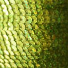 SEQUIN STRING TRIM~  YELLOW LASER HOLOGRAM~ 6mm FLAT strung by yard  Made in USA