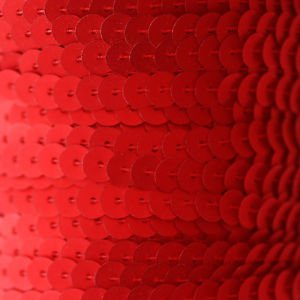 SEQUIN STRING TRIM ~ RED Matte Silk Frost~ 6mm FLAT strung by yard Made in USA