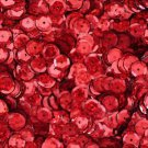 SEQUIN FACET 8mm Cup Loose PAILLETTE ~ RED Laser Hologram Metallic ~ USA Made