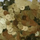 6mm Flat SEQUIN PAILLETTES ~ GOLD Metallic ~ Round Disc ~ Made in USA