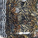Gold Black Tiger Stripe Metallic Sequin Trim 10mm flat strung. Made in USA.