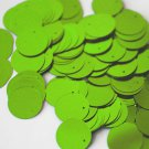 20mm ROUND SEQUIN PAILLETTES ~ LIME GREEN METALLIC Flat Sequin Disc Made in USA