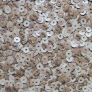 4mm Flat SEQUIN PAILLETTE Loose ~ Oak Wood Effect Brown Beige ~ Made in USA