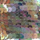 Sequin Trim Gold Iris Metallic Rainbow 8mm flat strung by the yard. Made in USA.