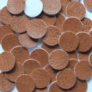 15mm Vinyl Disc Brown Leather No Hole Round Circle