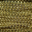 Gold Shiny Pearl Beads 2.5mm Molded on Thread Fused to string 120 inches (10')