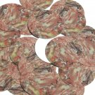 "Round Sequin 1.5"" Petrified Wood Red Pink Brown Opaque"
