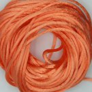 Orange Tangerine Satin Rattail Cord Made in the USA 10 yard pack