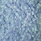 8mm Cup Sequins Powder Blue Rainbow Iris Shiny Opaque