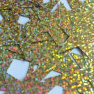 "Sequin Star 5 Point 1.5"" Gold Hologram Glitter Sparkle Metallic. Made in USA"
