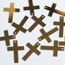 "Sequin Simple Cross 1"" Gold Metallic Couture Paillettes. Made in USA."