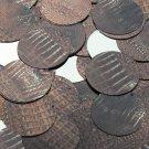 "Round Sequin 1.5"" Deep Brown Distressed Crocodile Print Metallic"
