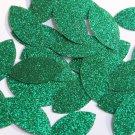 "Navette Leaf Sequin 1.5"" Green Metallic Sparkle Glitter Texture Paillettes"