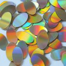 """Sequin Oval 7/8"""" Gold Lazersheen Reflective Metallic. Made in USA"""