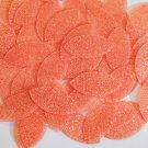 "Navette Leaf Sequin 1.5"" Orange Neon Fluorescent Sparkle Glitter Texture"
