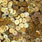 6mm Flat SEQUIN PAILLETTES ~ GOLD PRISM MULTI Reflective METALLIC~ Made in USA