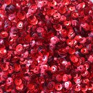 4mm Cup SEQUIN FACET PAILLETTES ~ RED Metallic ~ Made in USA