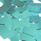 "Rectangle Sequin 1.5"" Aqua Turquoise Blue Metallic Couture Paillettes"