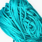 Aqua Blue Satin Rattail Cord Made in the USA 10 yard pack