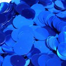 Royal Blue Shiny Metallic 20mm Sequin Round Paillette Center Hole ~ Made in USA