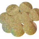 "Sequin Round 3"" Gold Hologram Glitter Sparkle Metallic. Made in USA"