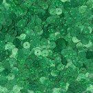 6mm Flat SEQUIN PAILLETTE ~ GREEN Laser HOLOGRAM Multi Metallic Reflective
